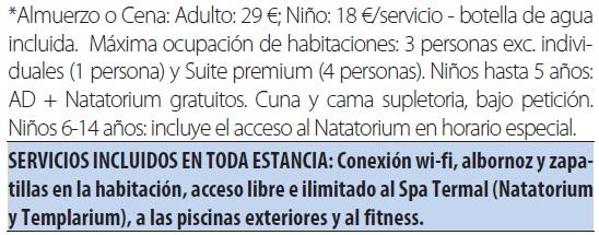 Balneario blancafort tarifas 2019