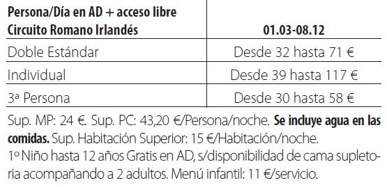 Balneario gravalos tarifas 2019