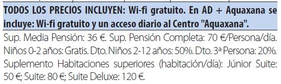 Balneario las caldas tarifas 2019