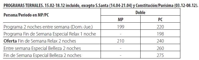 Balneario paracuellos de jiloca tarifas 2019
