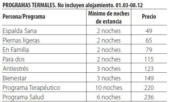 Balneario de graena tarifas 2019