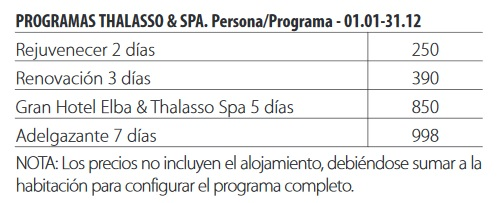 Elba estepona gran hotel & thalasso spa tarifas 2018