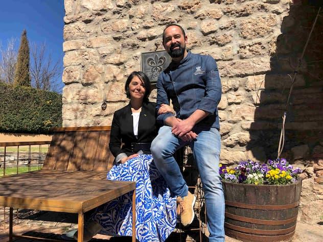 Blanca y Samuel Moreno, propietarios de Relais & Chateaux Molino de Alcuneza