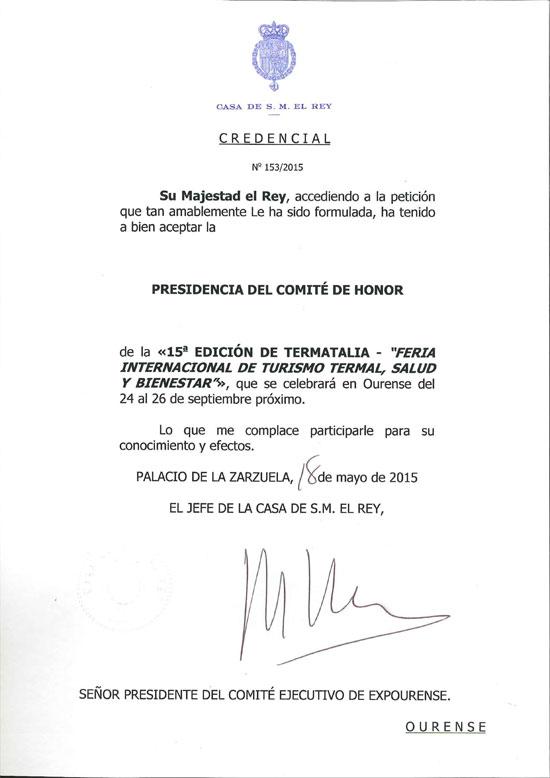 Credencial de la Casa Real