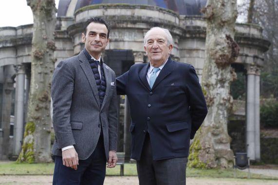 Kiko Rial, director general, y Javier Solano, presidente de Balneario de Mondariz