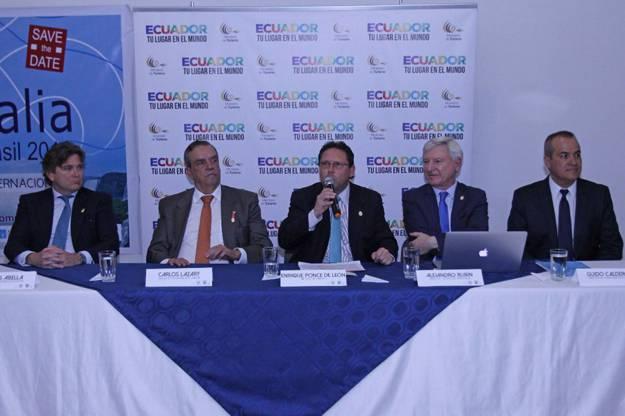 Presentación de la feria celebrada en la sede de Ministerio en Quito