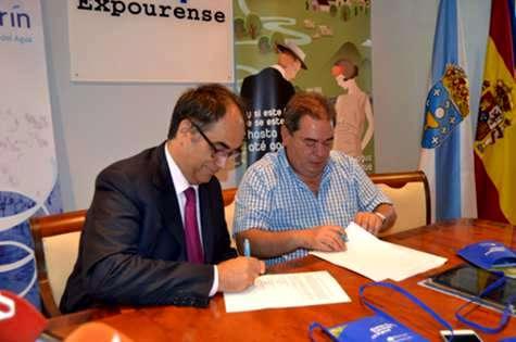 Firma de convenios entre el ayuntamiento de Verín y los propietarios de las fuentes termales de la provincia