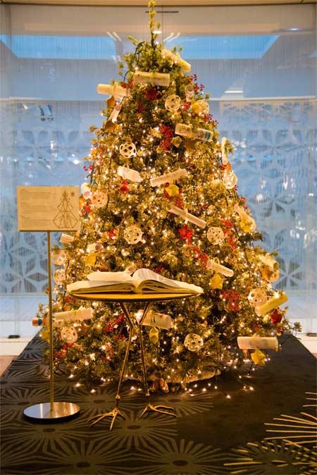 Los deseos de más de 1.700 niños se verán reflejados y cumplidos en un árbol muy especial ubicado en el hall del hotel el árbol de los deseos