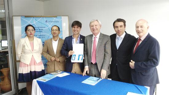 Representantes del gobierno. Presentación Termatalia México 2016 en la Cámara de Turismo CAPTUR de Quito