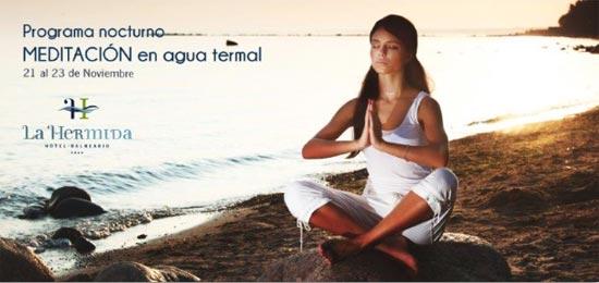 Meditación en agua termal