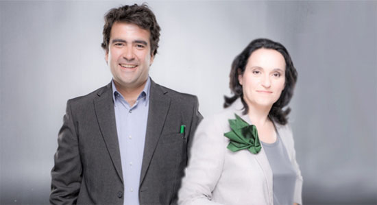 Soledad de Juan y Pablo Rodríguez, conductores de Onda Agraria en Onda Cero