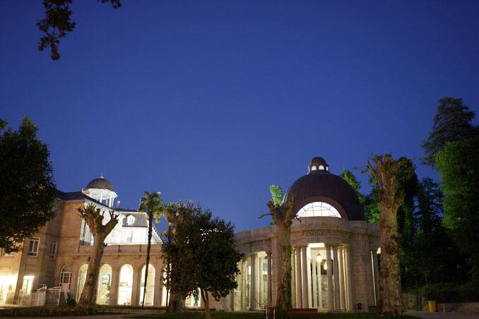 Fuente de Gándara y Palacio del Agua