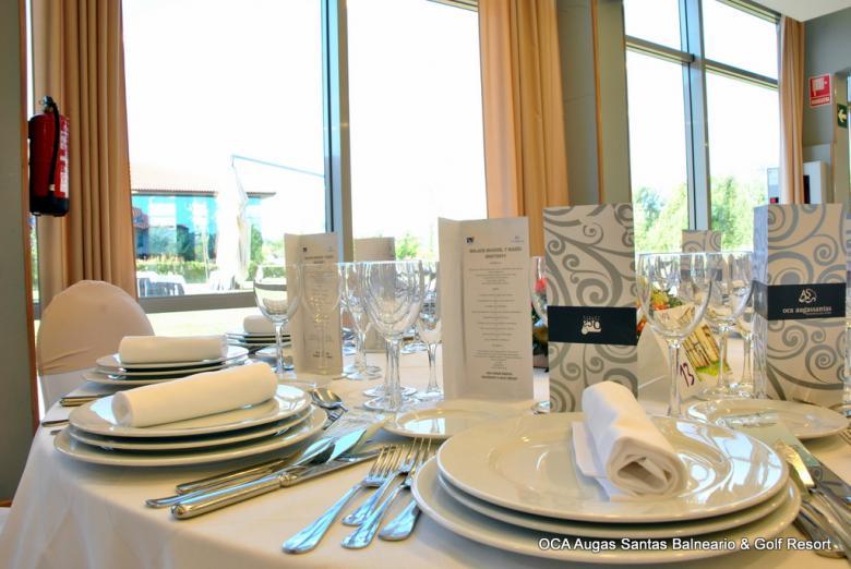 Detalle mesas restaurante