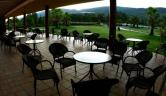 Terraza jardín Balneario Valle del Jerte