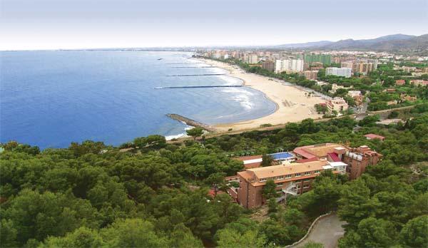 Vista aerea de la costa