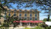 Detalle de la fachada Hotel Villa de Laguardia