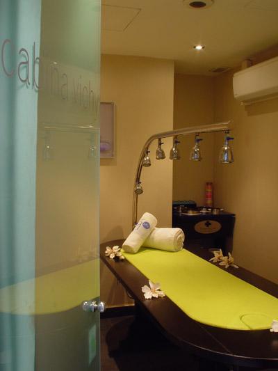 Cabina de masajes de Ducha Vichy