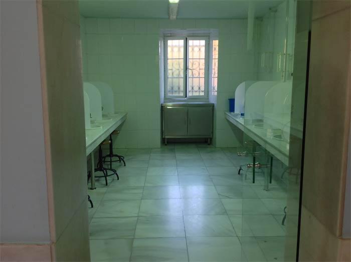 Sala de duchas nasales