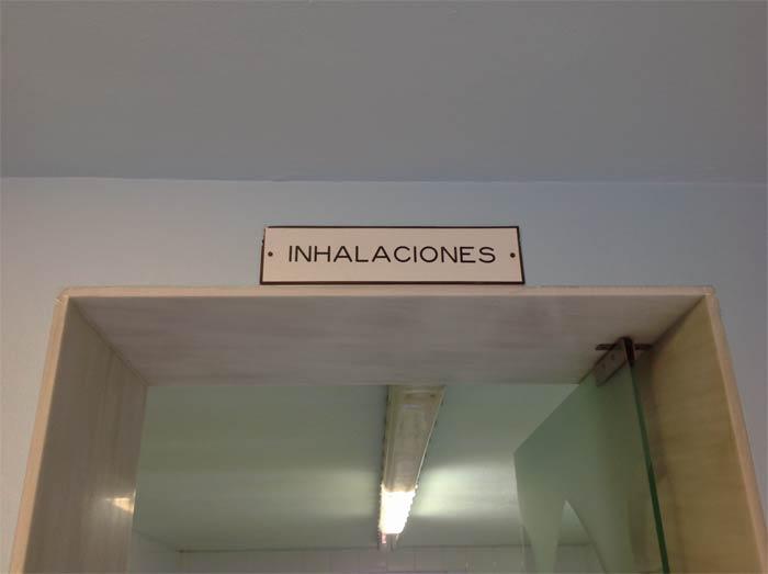 Zona de inhalaciones