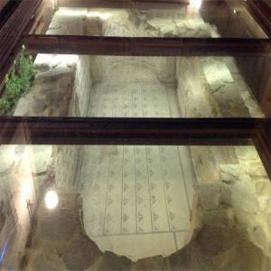 Ruinas romanas en el casco historico de Lugo  Balneario de Lugo