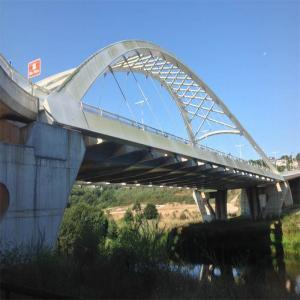 Puente sobre el rio Miño  Balneario de Lugo