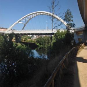Vista del nuevo puente sobre el rio Miño  Balneario de Lugo