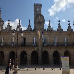 Plaza del ayuntamiento de Lugo  Balneario de Lugo